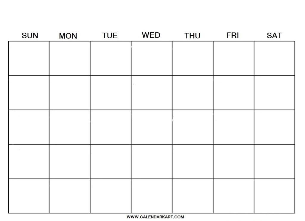10 Free Printable Blank Calendar Templates {Fillable Pdf regarding Blank Calendar 2020 Image
