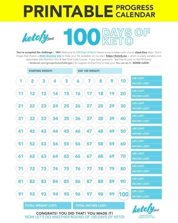 100 Days Of Keto Challenge, Grocery Lists, Keto 101, Keto intended for 90 Dayketo Challenge Printable Photo