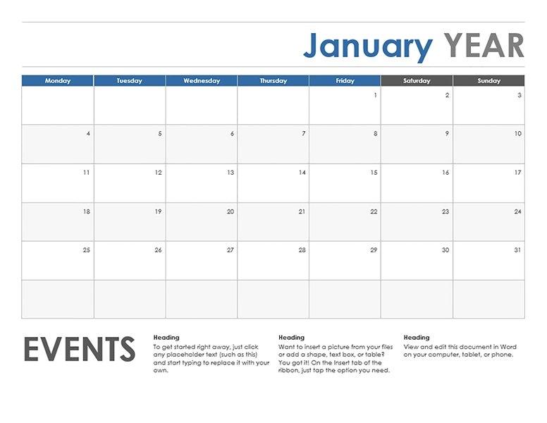 11×17 Calendar Template Word – Printable Year Calendar regarding Free Printable 11 X 17Calendar Image