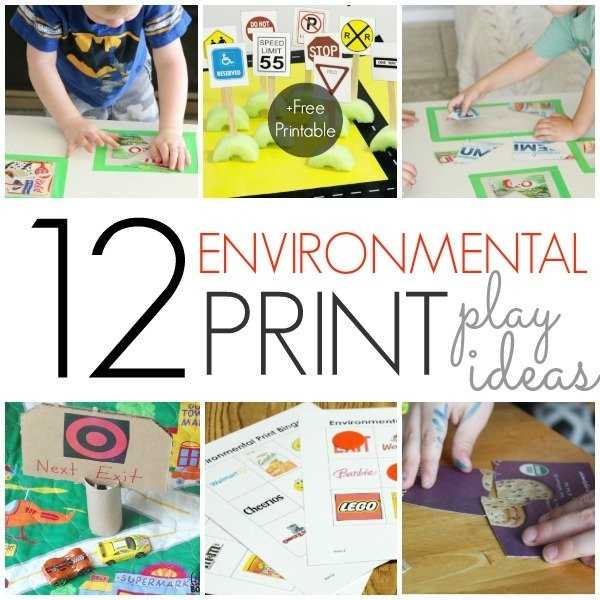 12 Environmental Print Activities - Pre-K Pages inside Preschool Classroom Print Graphics