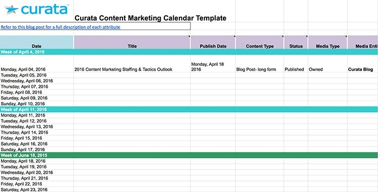 15 Content Calendar Templates To Help Your Content Strategy for Newsletter Content Calendar Template Photo