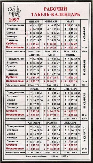 1997 Calendar with 1997 Calendar Graphics