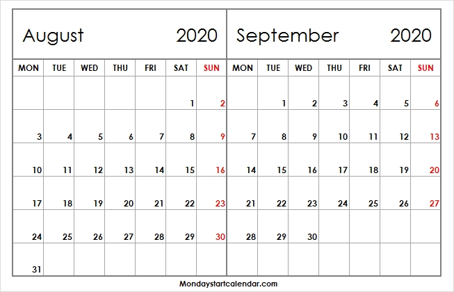2 Month Calendar Archives - Page 4 Of 37 - Monday Start Calendar within Calendar With Only Weekdays Image