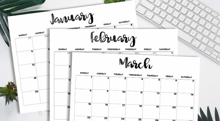 20 Free Printable 2020 Calendars - Lovely Planner inside Calenders You Can Write In Image