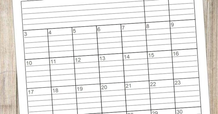 20 Free Printable 2020 Calendars - Lovely Planner pertaining to Free Printable Lined Monthly Calendar 2020