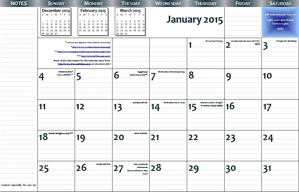 2015 11×17 Free Printable Page-Per-Month Wall Calendar — Pdf intended for 11 X 17 Calendar Printable Photo