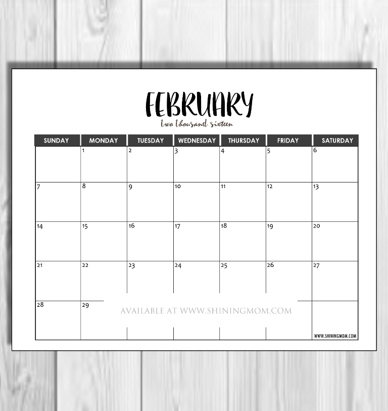 2016 Monthly Calendars {Minimalist Design!} within Understated August Calendar