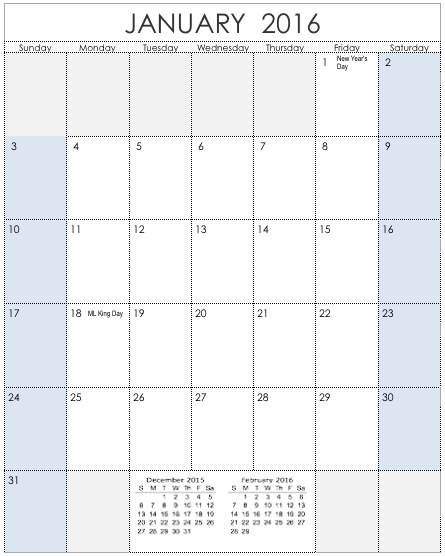 2016 Vertical Calendar Template For Numbers | Free Iwork with Calendar Template Vertical Photo