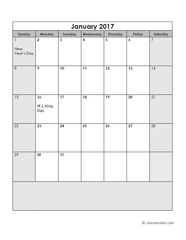 2017 Calendar Template Large Boxes - Free Printable Templates pertaining to Free Printable Large Square Calendars