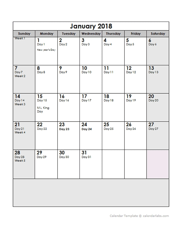 2018 Yearly Julian Calendar - Free Printable Templates with regard to Ordinal Date Clanedar Photo