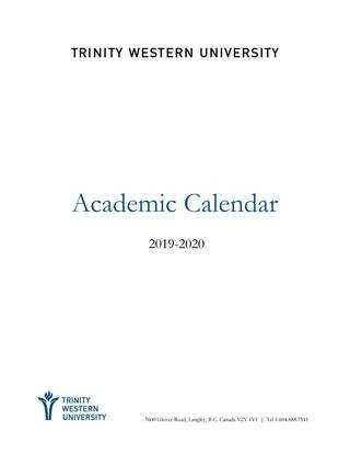 2019-20 Academic Calendartwu - Issuu intended for Emerson Accademic Schedule Graphics