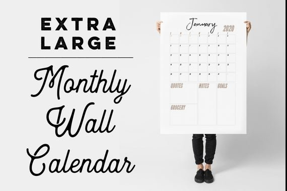 2019-2020 Extra Large Wall Calendar Printable inside Extra Large Printable Calendar Image