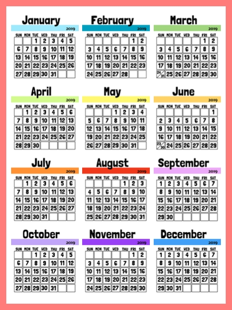 2019 Calendar - Monthly Calendar Pages To Download And Print inside September Calendar With Ordinal Numbers Photo