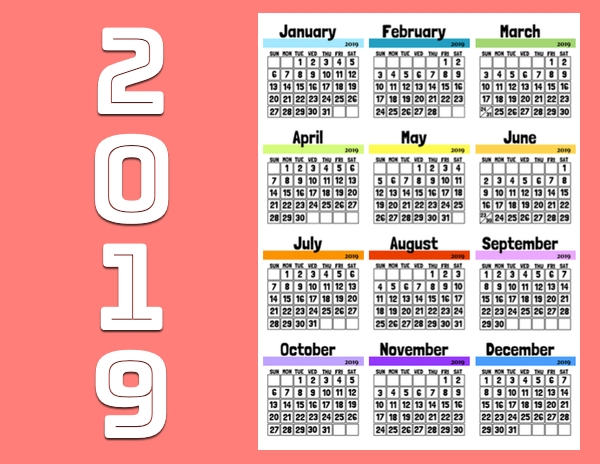 2019 Calendar - Monthly Calendar Pages To Download And Print intended for September Calendar With Ordinal Numbers Photo
