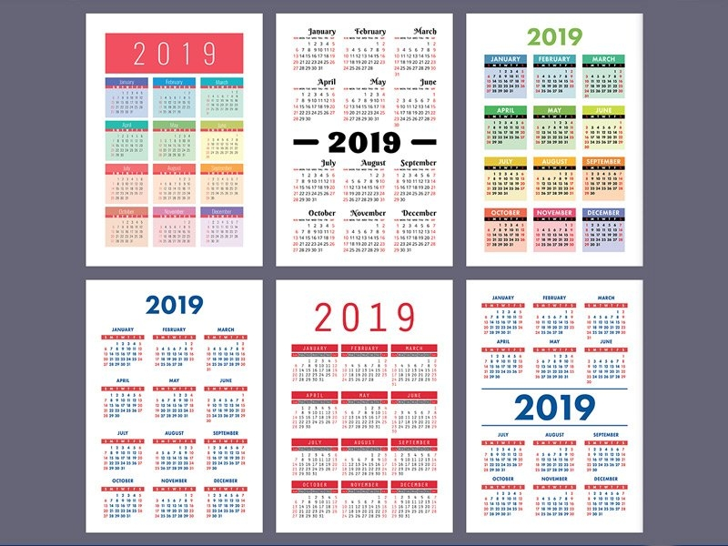 2019 Calendars – Table-Top, Wall-Hung Or Year-Planner – They within Samples Of Calensars