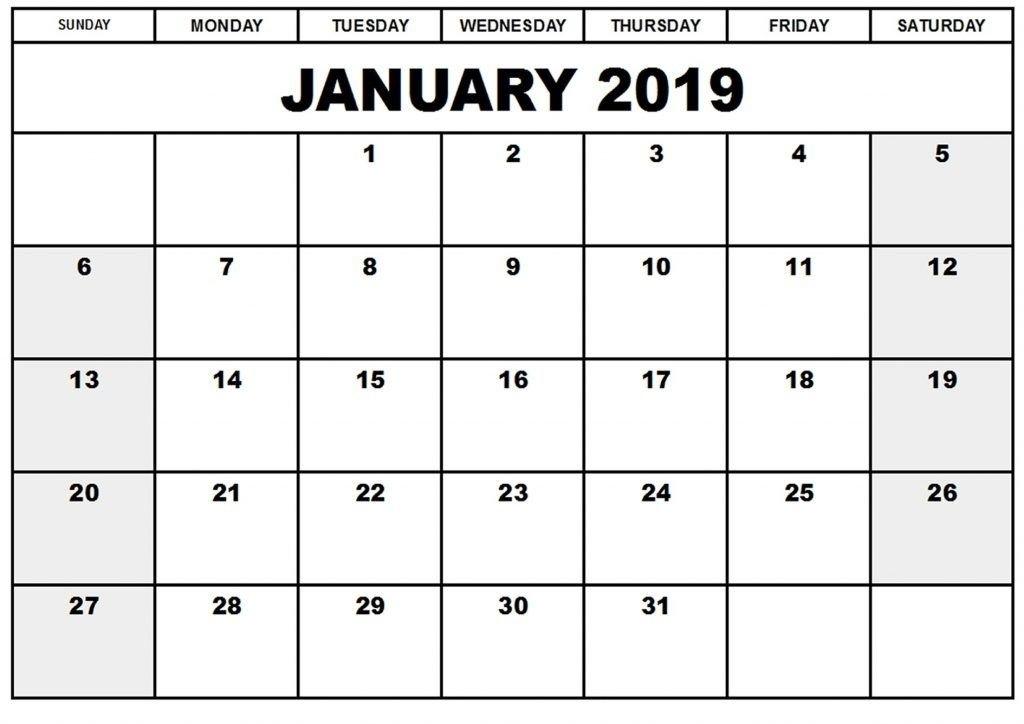 2019 January Countdown #calendar Printable | Editable intended for Free Count-Down Calendar Printable