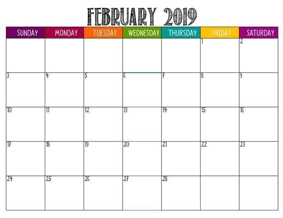 2019 Lifesaver Large Square Fun Printable Monthly Planner inside Large Square Calendar Printable Photo