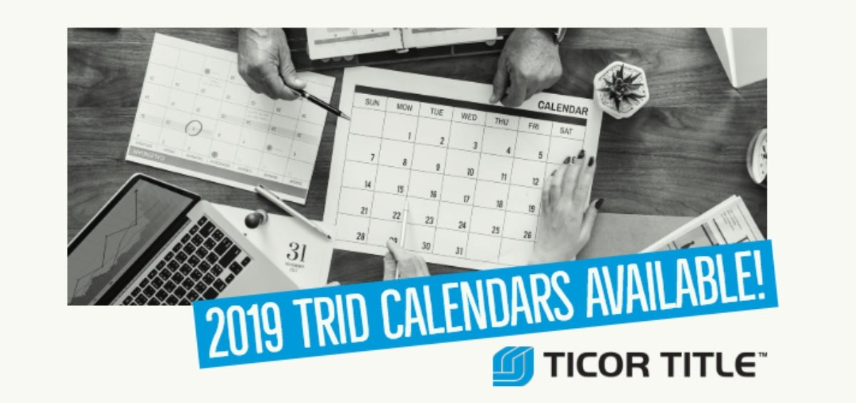 2019 Trid Calendar - Know Before You Close. - Ticor Title Blog inside 2020 Trid Calendar Photo