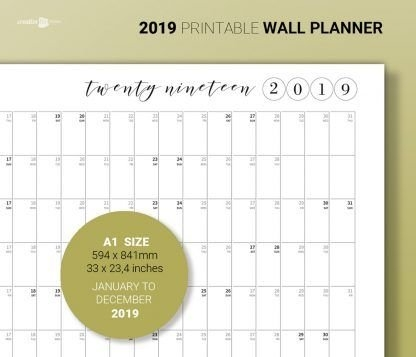 2019 Wall Planner | Wall Planner, Planner, Creative Planner within Printable Julian Calendar Color Coded