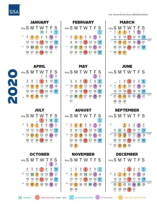 2020 Biweekly Pay Period Calendar Gsa | Pay Period Calendar 2020 with Federal Government Pay Period Calendar 2020 Image
