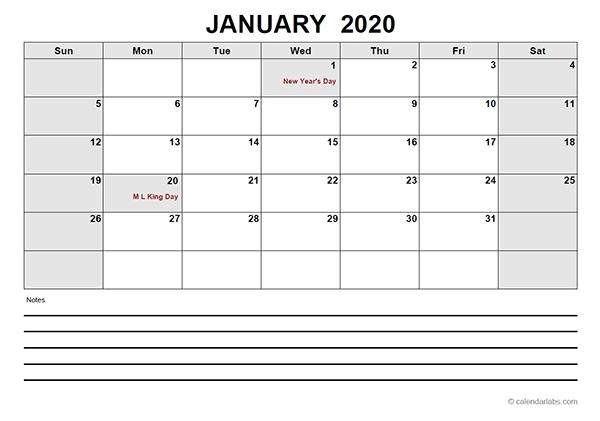 2020 Blank Calendar Pdf - Free Printable Templates with regard to Blank Calendar 2020 Image
