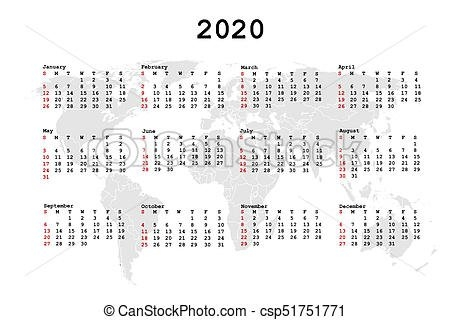 2020 Calendar For Agenda With World Map with regard to Calendariosy Agendas Graphics