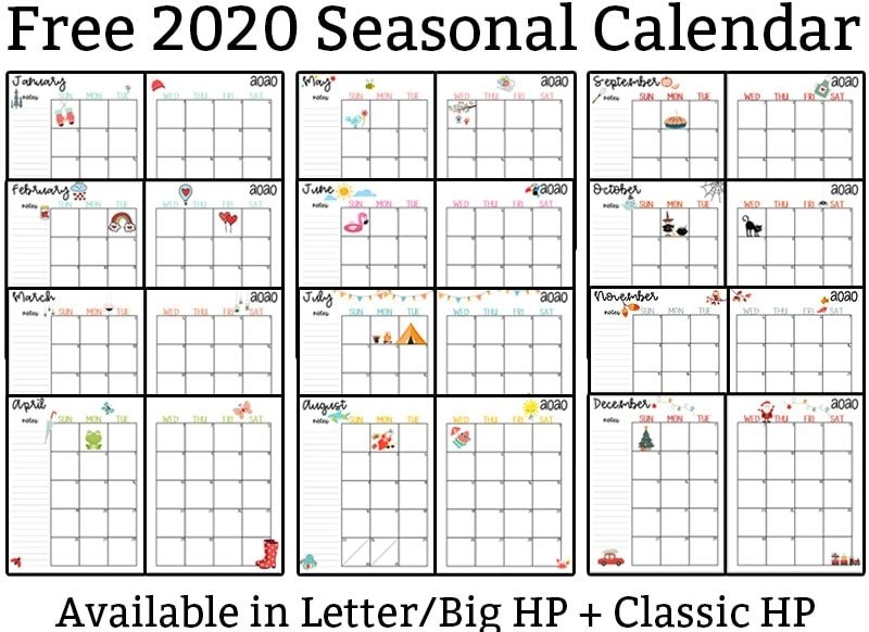 2020 Calendar Printable - Free Printable 2020 Monthly Calendar regarding Monthly Calendar Printable Image