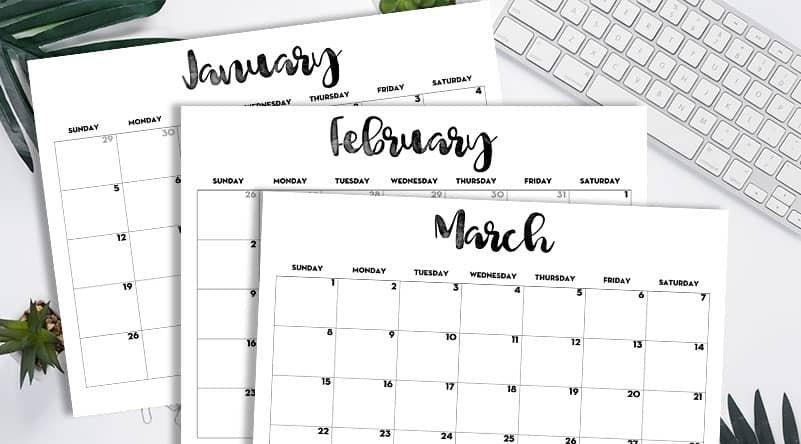 2020 Calendar Printable Free Template - Lovely Planner throughout Printable 2020 Monthly Calendar Template
