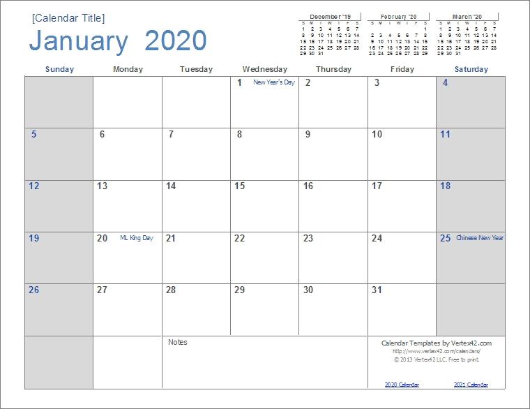 2020 Calendar Templates And Images regarding Blank Calendar Templates 2020 Graphics