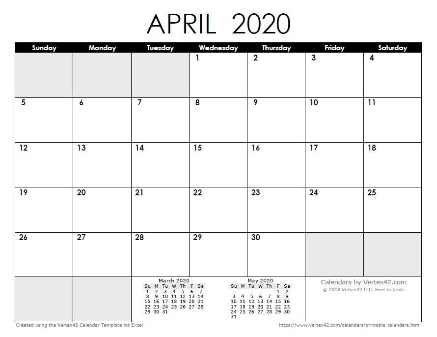 2020 Calendar Templates And Images with regard to Free Printable Monthly Calendar 2-020 Image