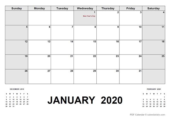 2020 Calendar With Canada Holidays Pdf - Free Printable pertaining to 2020 Calendar Pdf