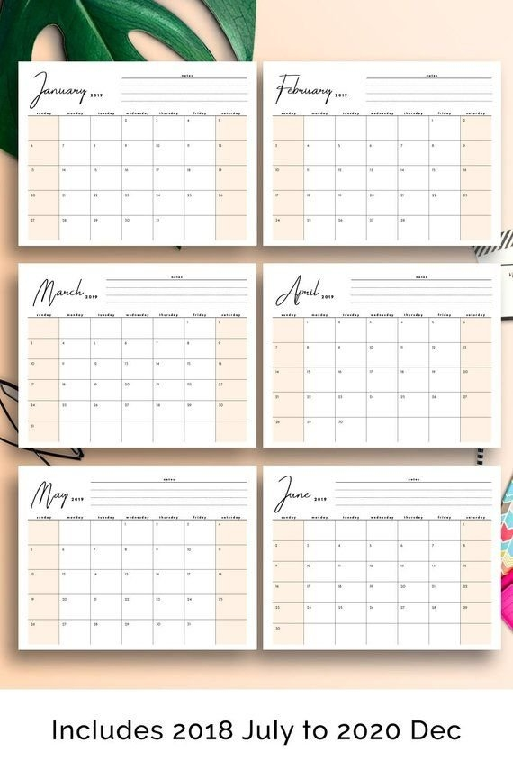 2020 Desk Calendar, 2020 Large Desk Calendar, 2020 Monthly inside Images Of Large Block Printable Calenars