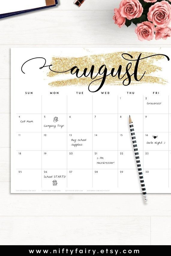 2020 Desk Calendar, Monthly Planner 2020 Desk Calendar, Desk inside 2020 Printable Camping Calendar Photo