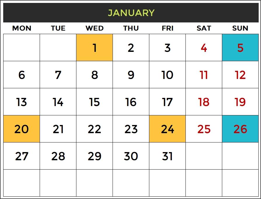 2020 Excel Calendar Template - Free Download - Spreadsheet for Blank Calendar Templates 2020 Graphics