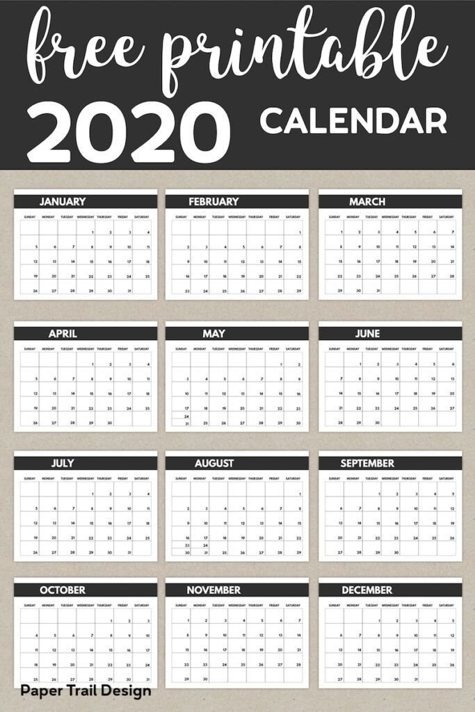 2020 Free Monthly Calendar Template | Calendar Template with regard to 8.5X11 Sept Calendar Page Photo
