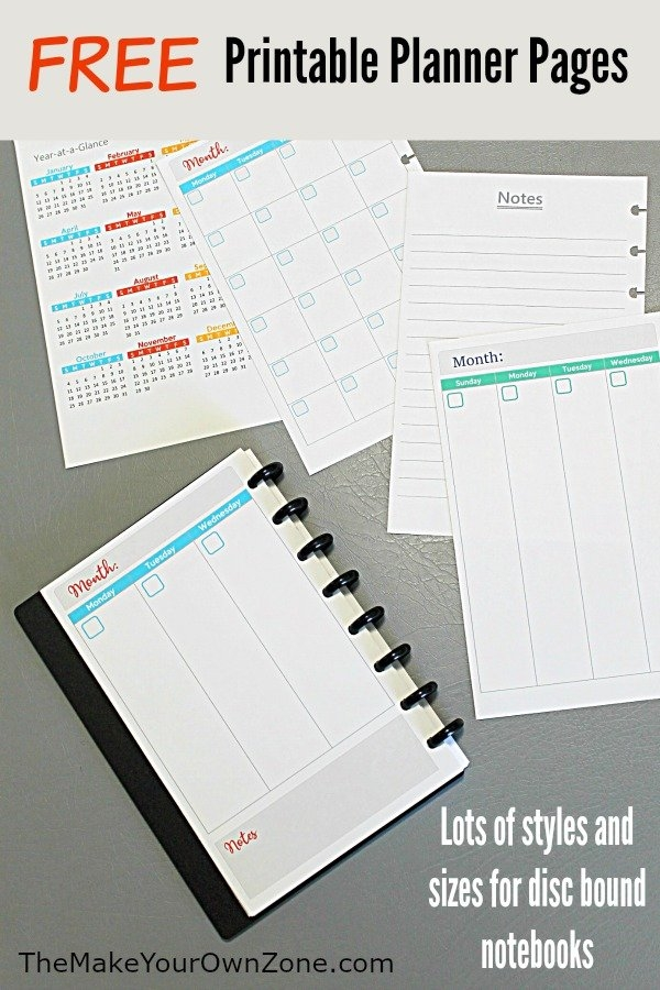 2020 Free Printable Planner Pages - The Make Your Own Zone inside Small Pocket Size Calendar Booklet Free Template