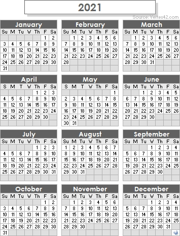2021 Calendar Templates And Images in 2021 Calendar Printable Free Pdf Graphics