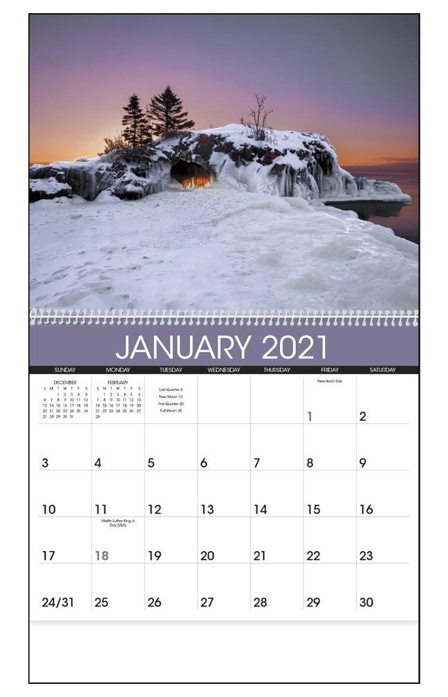 "2021 Sunrise / Sunset Calendar | 11"" X 19"" Imprinted Spiral within Blank Sunrise/sunset Chart Pdf Photo"