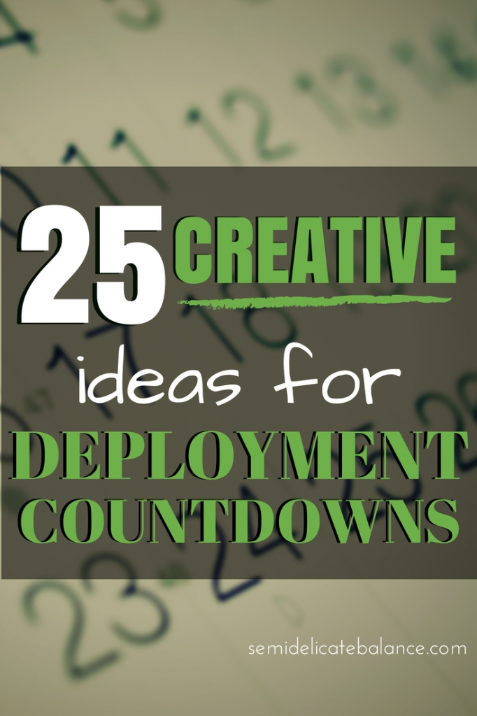 25 Creative Ideas For Deployment Countdowns for Printable Short Timers Calendar