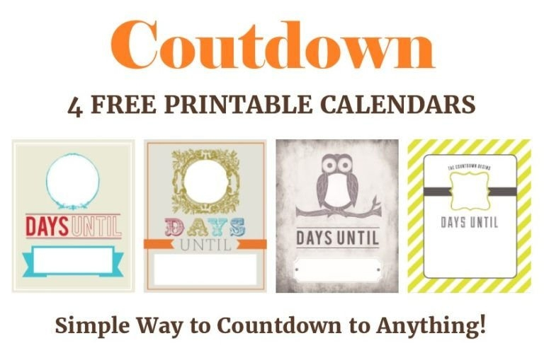 27 Fun Countdown Calendars To Anticipate Your Next Event intended for Free Count-Down Calendar Printable