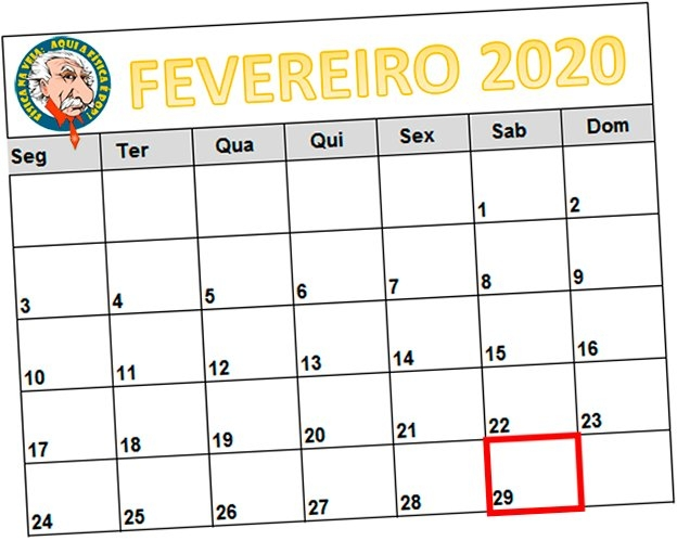 "29 De Fevereiro: Onde Fica ""escondido"" Este Dia Extra? - Uol in Dia Juliano 2020"