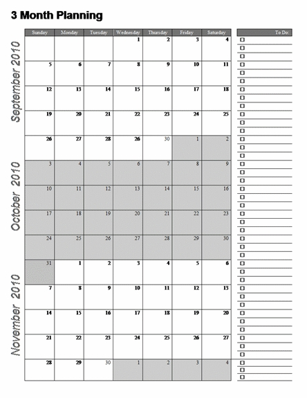 3 Month Calendar Template Word | Calendar Printables, 3 throughout 3 Month  Word Calendar Image