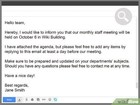 3 Ways To Write An Email For A Meeting Invitation - Wikihow for Calendar Invite Sample