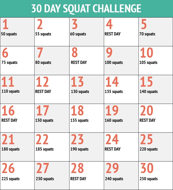 30 Day Squat And Ab Challenge!!! | Push Up Challenge, 30 Day throughout Ab And Squat Challenge Printable