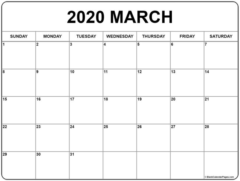 30 March 2020 Calendars You Can Download And Print for Images Of Large Block Printable Calenars Graphics