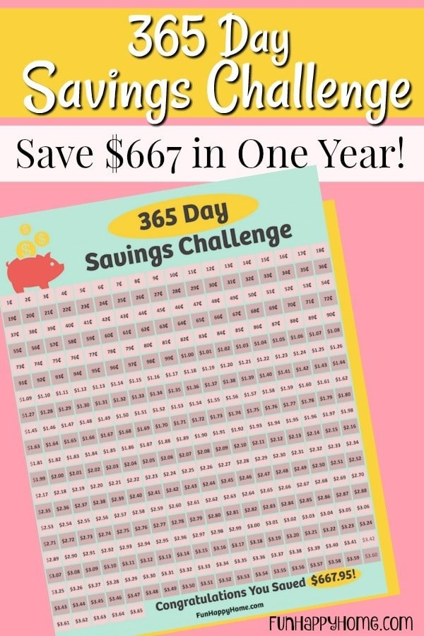365 Day Penny Saving Challenge: A Free Printable pertaining to Penny A Day Savings Calendar