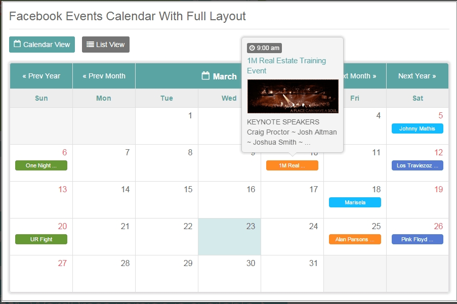 40+ Php Calendar With Events - Digital Design Journal in Access Database Events Calendar Free Image