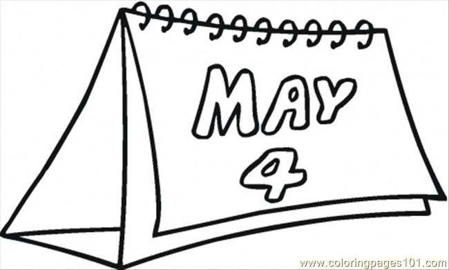 4Th Of May Coloring Page - Free Calendar Coloring Pages regarding Itsy Bitsy Fun Calendar Photo