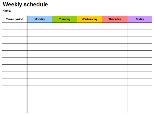 7+ Free Weekly Planner Template & Schedule Planners (Word in 10 Day Schedule Format Image