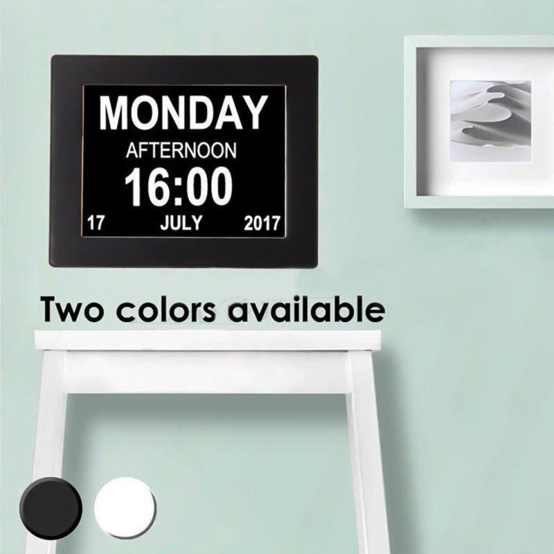 "8"" Led Dementia Digital Calendar Day/week/month/year Clock with Dementia Calendar Image"